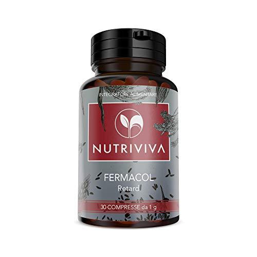 NUTRIVIVA - FERMACOL Retard   30 Tabletten 1000 mg aus fermentiertem rotem Reis   Titriert zu 3% MONACOLININ K   Gegen Fettaufnahme -