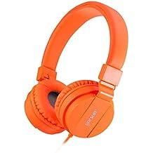 ONTA® Auriculares para Niños,Plegable Cómodos Auriculares Niños con Seguro Material,Auriculares Infantiles