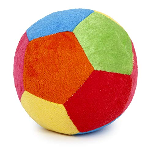 Pikipo Stuffed Soft Ball with Rattle Sound (Small, 11cm)