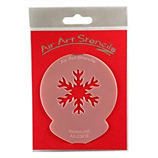 Snowflake Christmas Stencil - Reusable Flexible Food Grade Plastic Stencil for Cake and Craft Design, Airbrushing and more