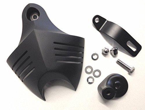 Hupen Abdeckung schwarz Horn Cover für Harley Davidson V Twin Cam Style Custom Evo