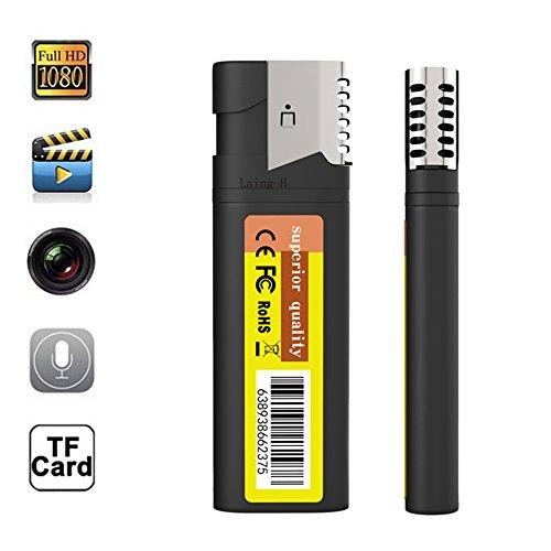 Mini Versteckte Spion Kamera (1080P HD Spy Versteckte Spion Kamera Leichter Elektronisches Feuerzeug DVR Bewegung Tragbare Mini DV ohne Objektiv Recordern ohne Löcher@Laing-H)