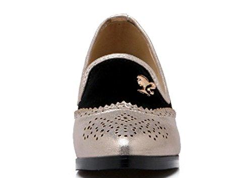 YCMDM Femmes Mariage Chaussures De Mariage Chaussures De Travail Grande Taille Unique Sandales Chaussures silver