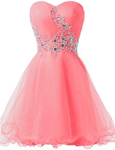 ivyd ressing Donna Sweetheart pietre Mini a forma di cuore in tulle cocktail dell' abito prom dress Fest vestito abito da sera Anguria