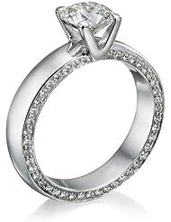Diamant Ring 1.45 Ct W E/SI1 Round 18 Karat (750) Weißgold (Ringgröße 48-63)