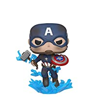 Funko Pop! Marvel: Endgame Captain America with Broken Shield and Mjolnir, Action Figure - 45137