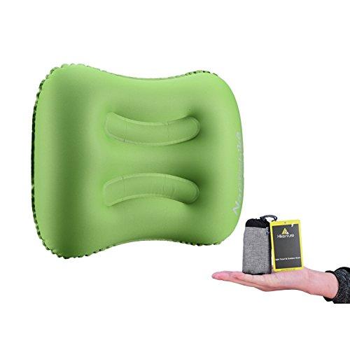 Camping Kopfkissen von HikentureTM - Leichtes Reisekissen - Aufblasbares Kopfkissen - Luftkissen Nackenkissen - Camping Pillow für Camping, Reise, Outdoor, Büro (Grün)