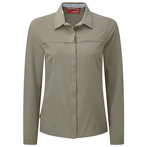 Craghoppers NosiLife Pro Langarm Bluse Women - Outdoorbluse Citronella