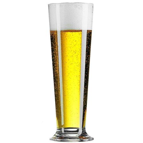 Linz Lot de 6 grands verres de 390 ml – verres à bière Pilsner pour demi-pinte