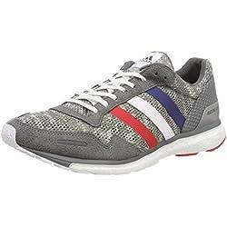Adidas Adizero Adios 3 Aktiv, Zapatillas de Deporte para Hombre, Gris (Gricua/Ftwbla/Escarl 000), 43 1/3 EU