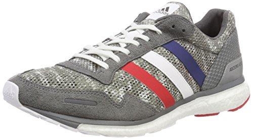 adidas Adizero Adios 3 AKTIV, Baskets Hommes, Gris (Gricua / Ftwbla / Escarl 000), 42 2 / 3 EU