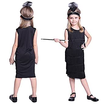 deguisement costume tenue robe a frange bandeau flume annee 20 1920 charleston fille enfant age. Black Bedroom Furniture Sets. Home Design Ideas