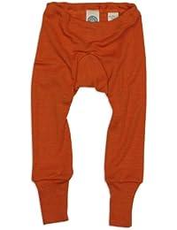 Cosilana Body pour bébé Résistant aux déchirures 70 % laine 30 % soie -  Orange - Orange - 3 mois