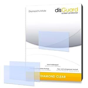 2 x disGuard Diamond Clear Film protecteur d'écran pour Fujifilm X-A1 / XA1 / XA-1 - Qualité supérieure (limpide, revêtement dur adhésif, montage sans bulles)