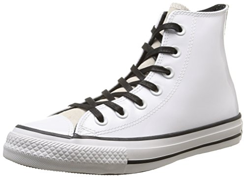 Converse, All Star Hi Patent/Suede Sneaker,Donna, Bianco (Optical White), (Patent Alta Heel)