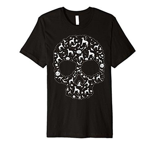 (Wachhund, Sugar Skull T-Shirt CUTE Italienisches Windspiel Dog)