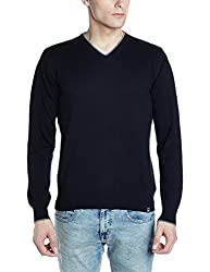 Lee Mens Cotton Sweater (8907649224540_L29015CB0M1800M_Jsw-Black)