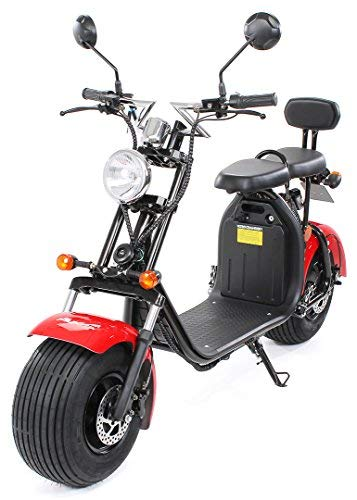 PEQUENENES Patinete Scooter EFLUX Harley 1500 W 60 V 20AH BATERIA Ion Litio (Rojo)