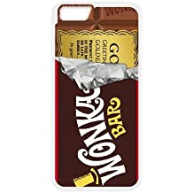 iPhone 6Plus De 5,5Pulgadas Cell Teléfono Móvil Willy Wonka Boleto Dorado Barra de chocolate Custom funda 2wer368422
