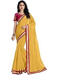 Venisa Women's Cotton Saree With Blouse Piece