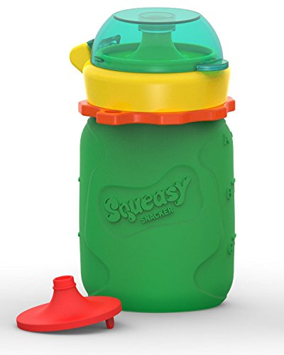 Squeasy Snacker 3.5oz 100% Food Grade Silicone...