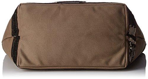 Vanessa Bruno Cabas Medium + -Coton et Paillettes, Cabas vert(olive)
