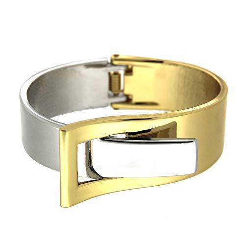 Sweet Deluxe Armspange Ebony, Gold/Silber I Armschmuck für Damen & Mädchen | Girl Armreifen | Geschenk-Idee für Geburtstag, Hochzeit, Verlobung | Bangle Frauen Armkettchen