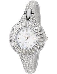Burgi BU40SS - Reloj de cuarzo para mujeres, color plata