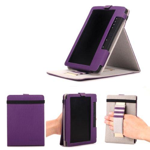 Trekstor eBook eReader 3.0 Hülle Case - Mulbess Ledertasche im Smart Cover Standfunktion für eBook eReader Trekstor eBook eReader 3.0 Tasche Etui Leder,Violett