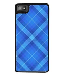 PrintVisa Designer Back Case Cover for BlackBerry Z10 (Blue Checks Cool Design)