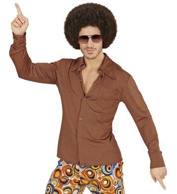 Hemd Siebziger 70er 80er Jahre Verkleidung Herren Schlager Disco Herrenhemd (L/XL, (Jahre 80er Mens Outfit)