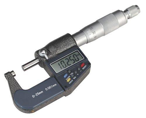SEALEY numérique externe Micromètre 0-25mm/0-1 \\