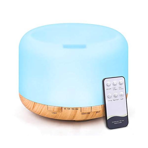 TENSWALL - Diffusore di aromi, 500 ml, umidificatore a ultrasuoni, con telecomando, nebulizzatore elettrico, diffusore… 1 spesavip