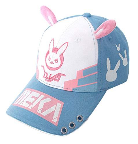 3bd78bf362554 Wish Costume Shop Bunny Ear Baseball Cap Dva Lovely Cosplay Accessory Hat  (Blue