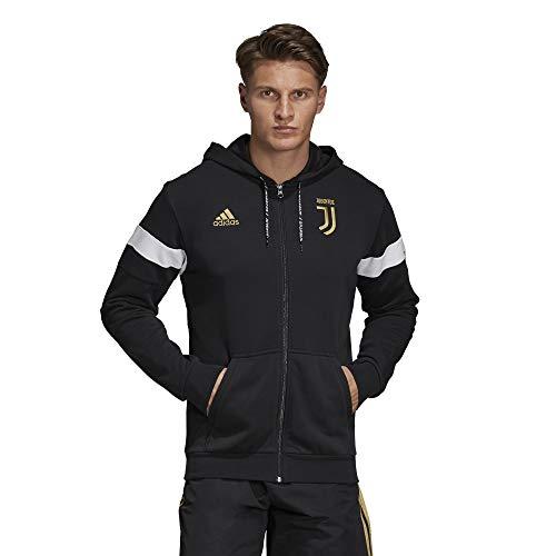 adidas FC Juventus Felpa Full Zip Hoodie 2018/19 Colore Nero Misure M