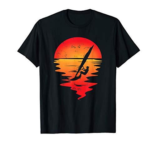 Wassersport Windsurfen Sonnenuntergang Tshirt
