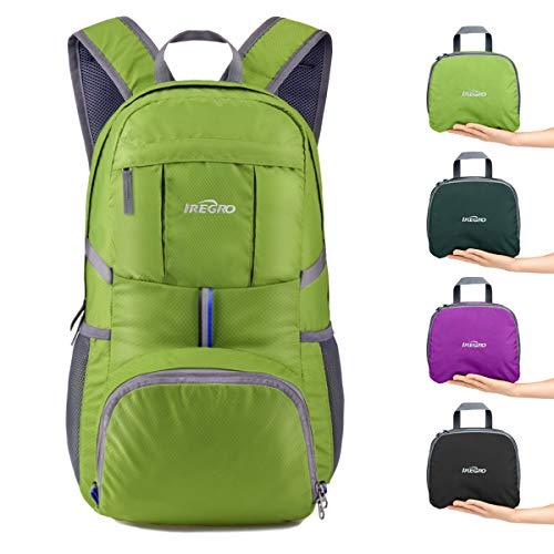 Josechan 35 Liter Faltbarer Rucksack Leichter Tagesrucksack, für Outdoor Wandern Reisen (Grasgrün)