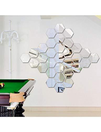 s 3D Mirror Hexagon Vinyl Entfernbarer Wand-Aufkleber-Abziehbild-Inneneinrichtung Decoration C ()