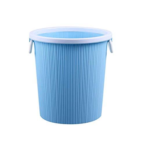 Haushaltsmülleimer mit Druckring für Badezimmer, Wohnzimmer, Küche, großer Papierkorb, WC, Europäisches Schlafzimmer ohne Abdeckrohr Kunststoff Rot Large blau