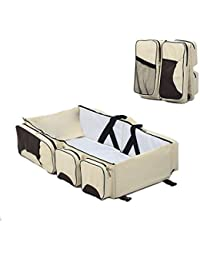 Glive's Folding Baby Travel Bed Bag Mommy Bag Baby Diaper Bag Travel Bassinet Baby Travel Bed Bag