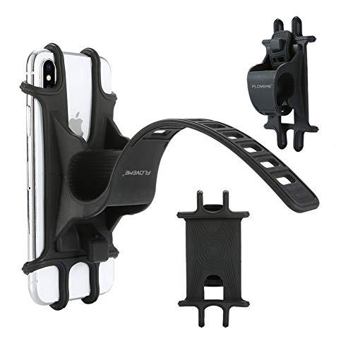 DJG Universal Fahrrad Handyhalter Silikon Einstellbare Pull Button Antishock für Fahrrad Motorräder Handyhalter