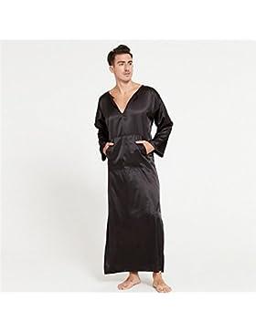 SUxian Gran Albornoz de los Hombres del Verano Mangas largas Delgadas Pijama camisón camisón Pijama