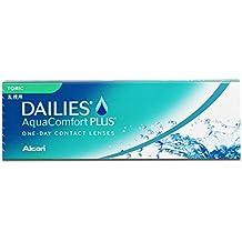 Dailies Plus Toric Lentes de Contacto Tóricas Diarias, R 8.8, D 14.4, 3.5 Dioptrías, Cilindro 1.75, Eje 170 - 30 Lentillas