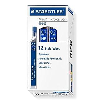 Staedtler 250 07 HB – Minas de repuesto (Gris, HB), Paquete de 12 tubos