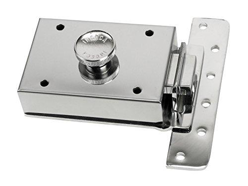 Inceca 36300 - Cerradura de sobreponer contra palanca y pomo (acero, bombillo de 55 mm)