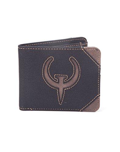 Quake Geldbörse Game Logo 10,5x8,8x1,5cm schwarz braun (Rottweiler Geldbörse)