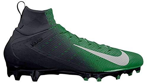 NIKE Men's Vapor Untouchable 3 Pro Football Cleats (9.5, Black/Green)