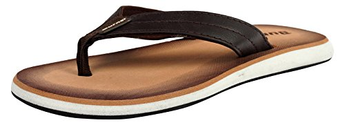 Burner Men's Brown Flip-Flops - 10 UK