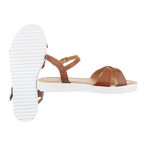 Ital-Design - Sandali alla schiava Donna Marrone chiaro