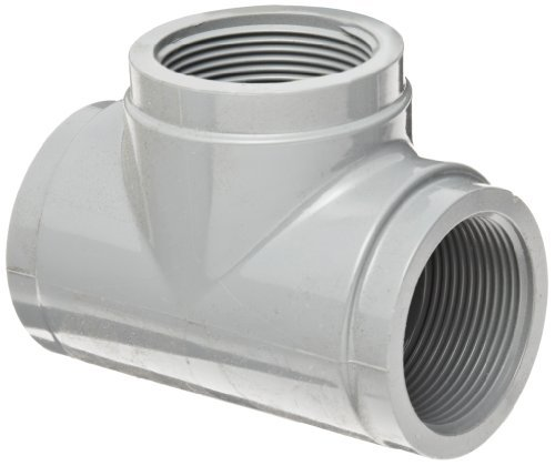 Cpvc Tee (GF Piping Systems CPVC Pipe Fitting, Tee, Schedule 80, Gray, 3/4 NPT Female by GF Piping Systems)